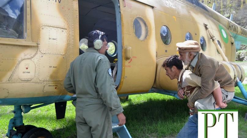 پاک فوج کے ہیلی کاپٹر نے بر ویلی چھلت ضلع نگر سے 26 مریضوں کو گلگت پہنچادیا
