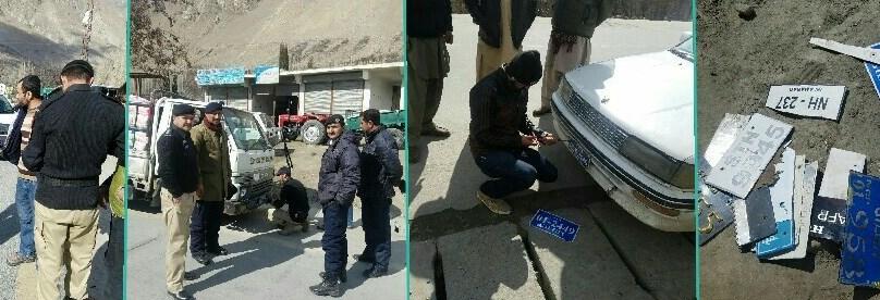 ہنزہ : محکمہ ایکسائز اینڈ ٹیکسیشن کا بغیر رجسٹریشن گاڑیوں کے خلاف کریک ڈاون