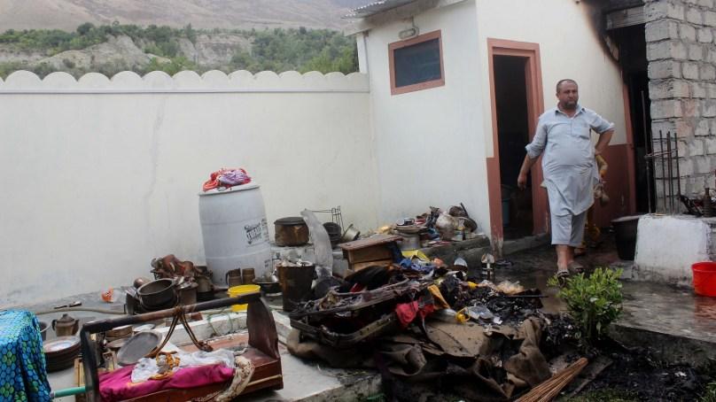 آتشزدگی سے بسین گلگت میں رہائشی مکان خاکستر