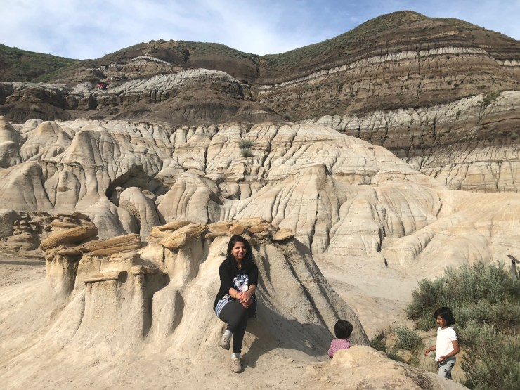 drumheller with kids