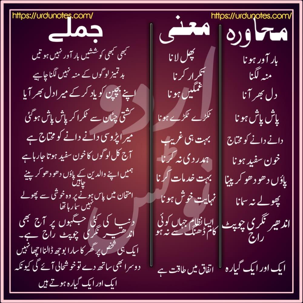 Urdu Muhavare Collection 2