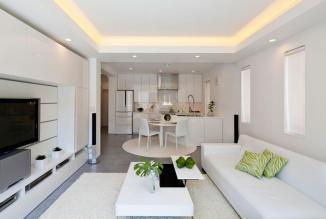 Very-Small-Living-Room-and-Kitchen-Design-Ideas-with-White-Paint-Colors