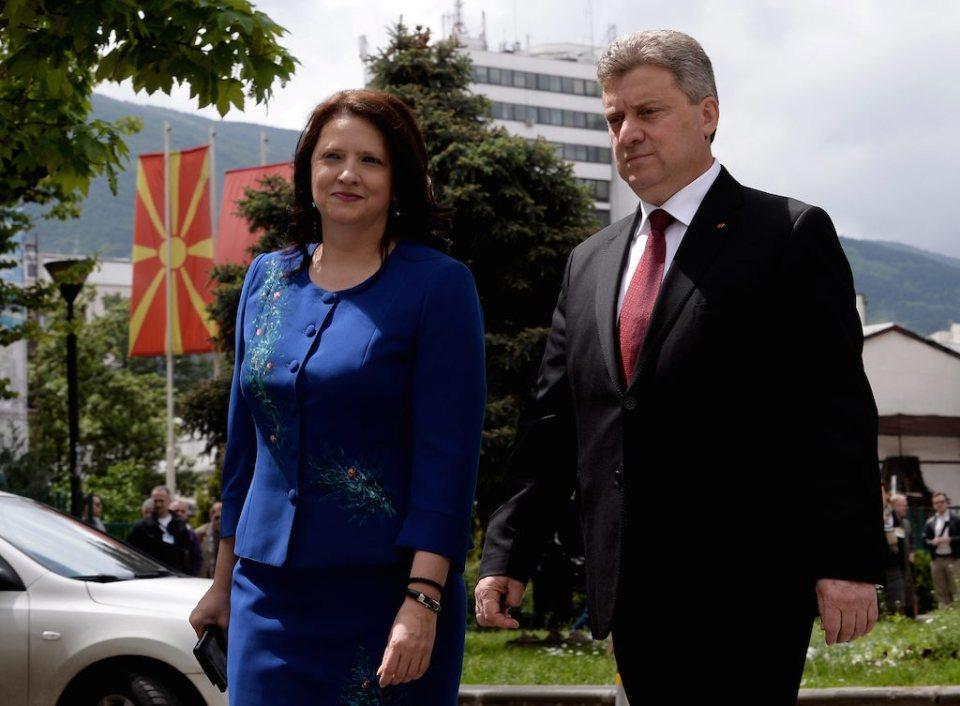 Президентът на Македония Георге Иванов в компанията на жена си Мая