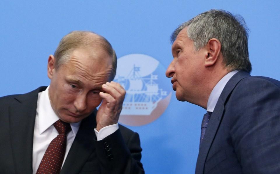 Владимир Путин Игор Сечин