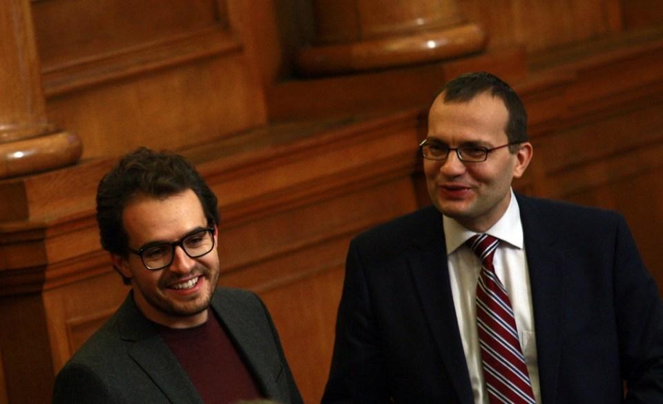 Антони Тренчев и Мартин Димитров от Реформаторския блок. Снимка: БГНЕС