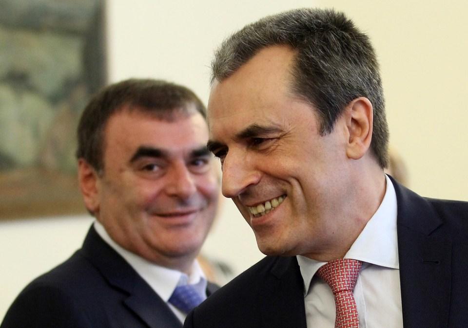 Данаил Папазов и бившият премиер Пламен Орешарски. Снимка: БГНЕС