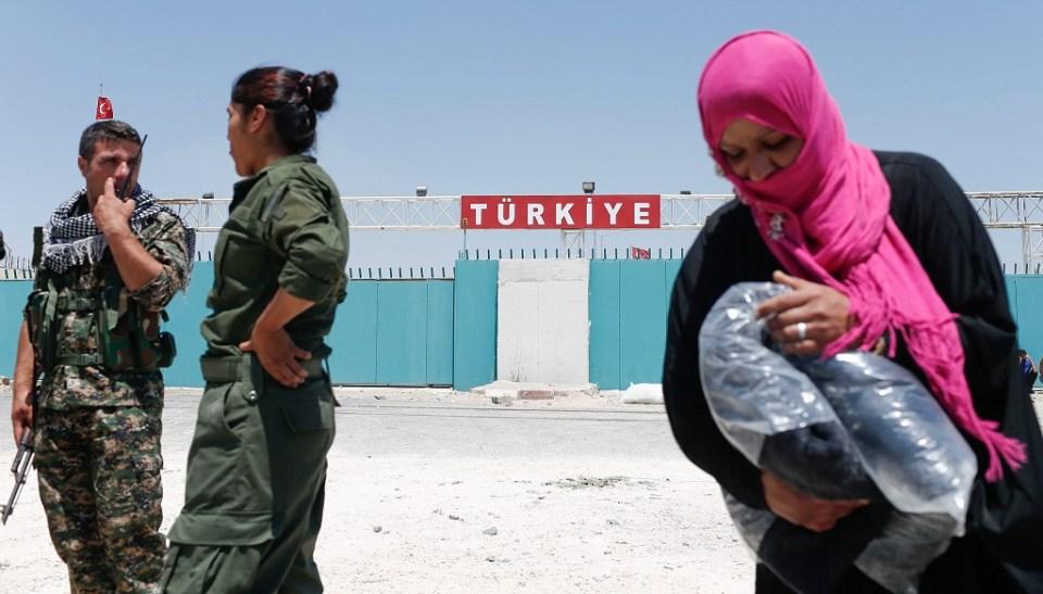 Граничен пункт между Турция и Сирия. Снимка: ЕРА/БГНЕС
