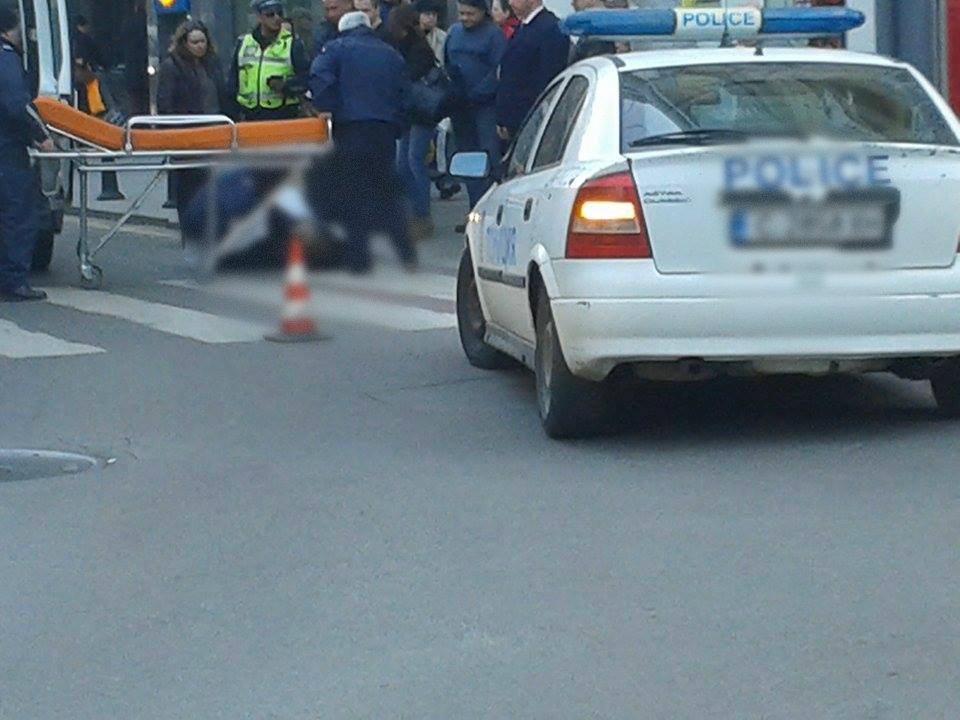 пешеходна пътека полицай