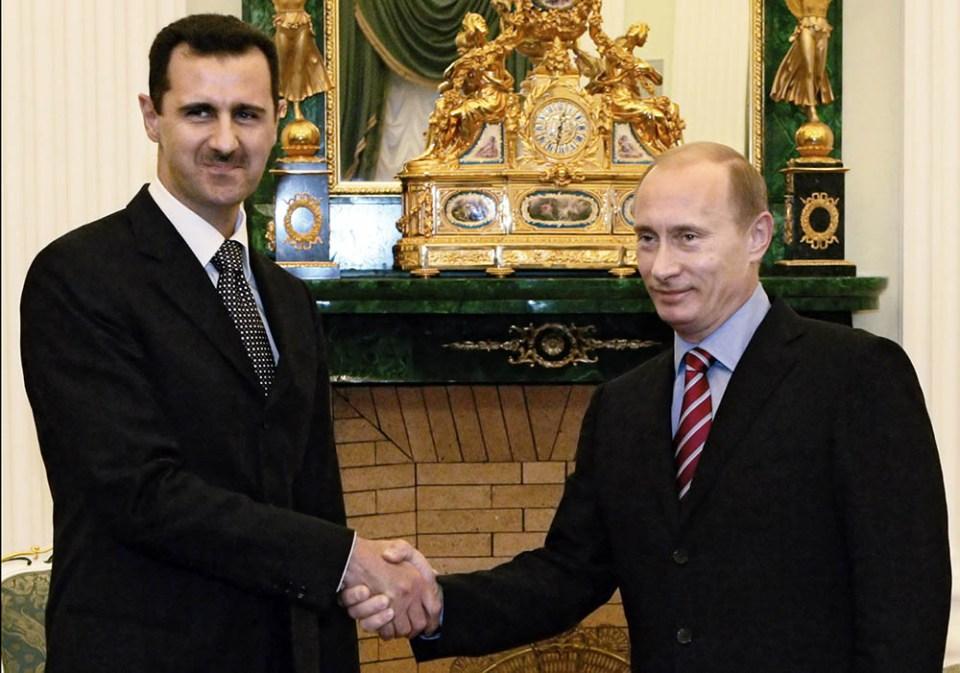 Руският президент Владимир Путин и сирийския му колега Башар ал-Асад. Снимка: ЕРА/БГНЕС