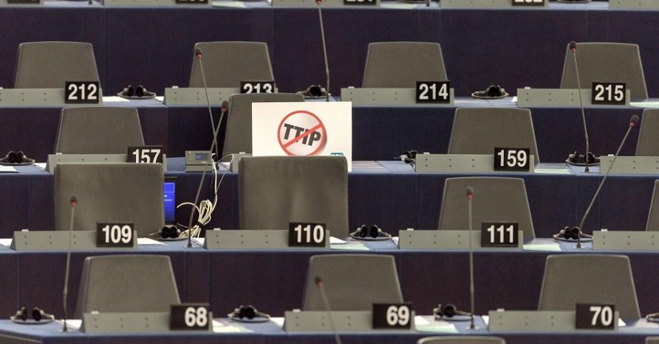 Френски евродепутати напуснаха дебатите за ТТИП в Европейския парламент. Снимка: ЕРА/БГНЕС