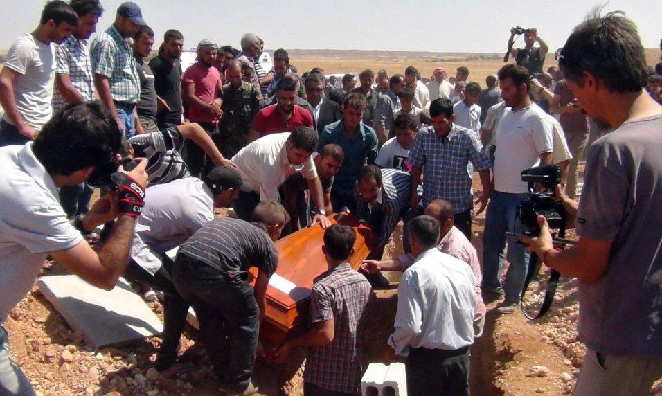 Funeral of drowned three-year-old boy Aylan Kurdi