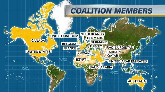 коалицията, водена от САЩ