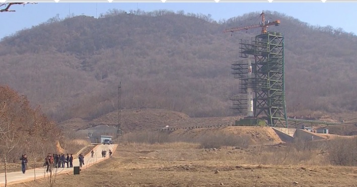 Космодрум в Северна Корея. Снимка: CNN
