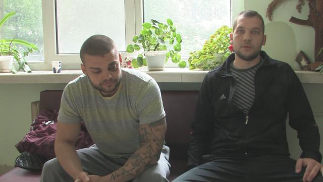 Двама от пребитите в Раднево - Цветелин Кюстендилски и Калчо Иванов