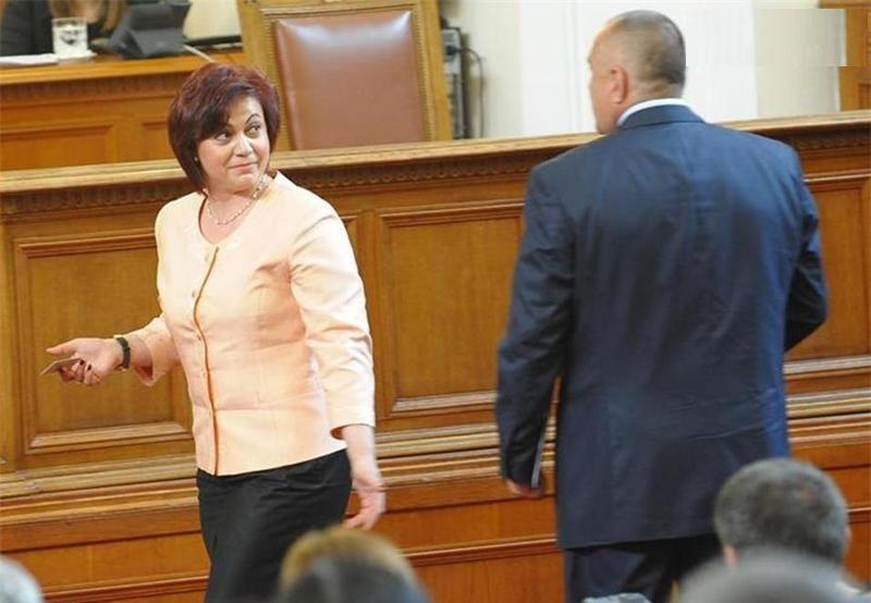 Бойко Борисов и Корнелия Нинова. Снимка: БГНЕС