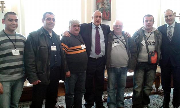 Бойко Борисов и делегацията от Свещари