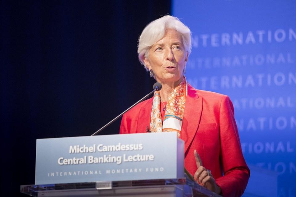 Директорът на Международния валутен фонд Кристин Лагард. Снимка: ЕРА/БГНЕС