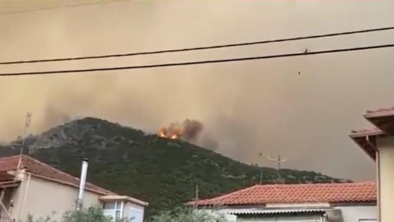 Пожар на о. Тасос. Стопкадър: Нова телевизия
