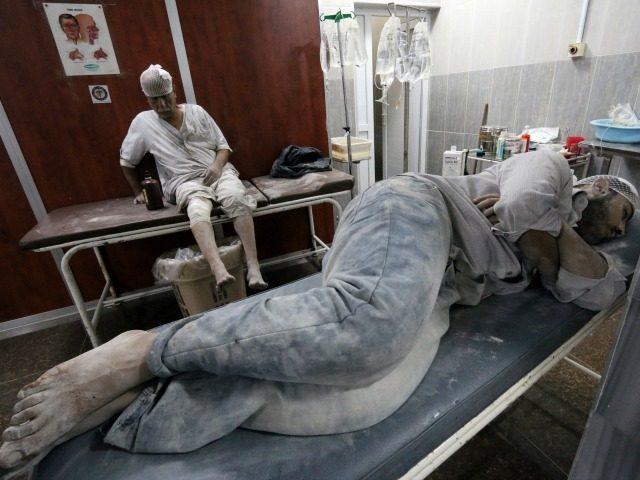 Пострадал от химическа атака в Алепо