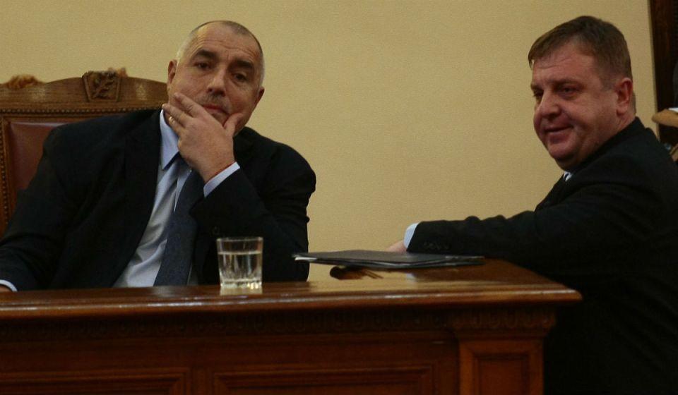 Премиерът в оставка Бойко Борисов - и wanna be премиерът Красимир Каракачанов