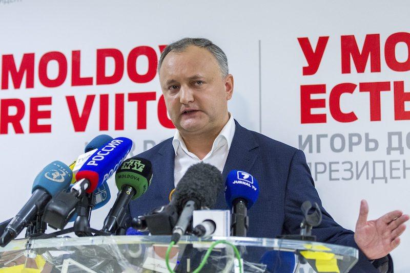 Новият президент на Молдова Игор Додон, ©EPA/БГНЕС