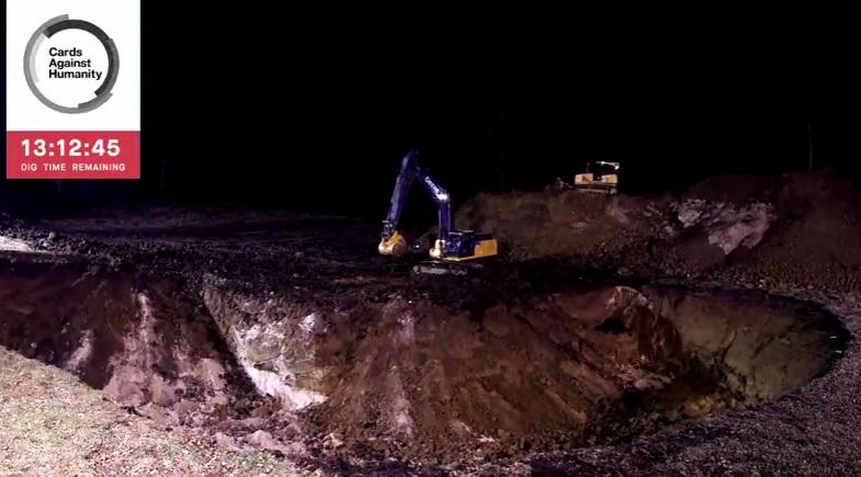 дупка яма багер