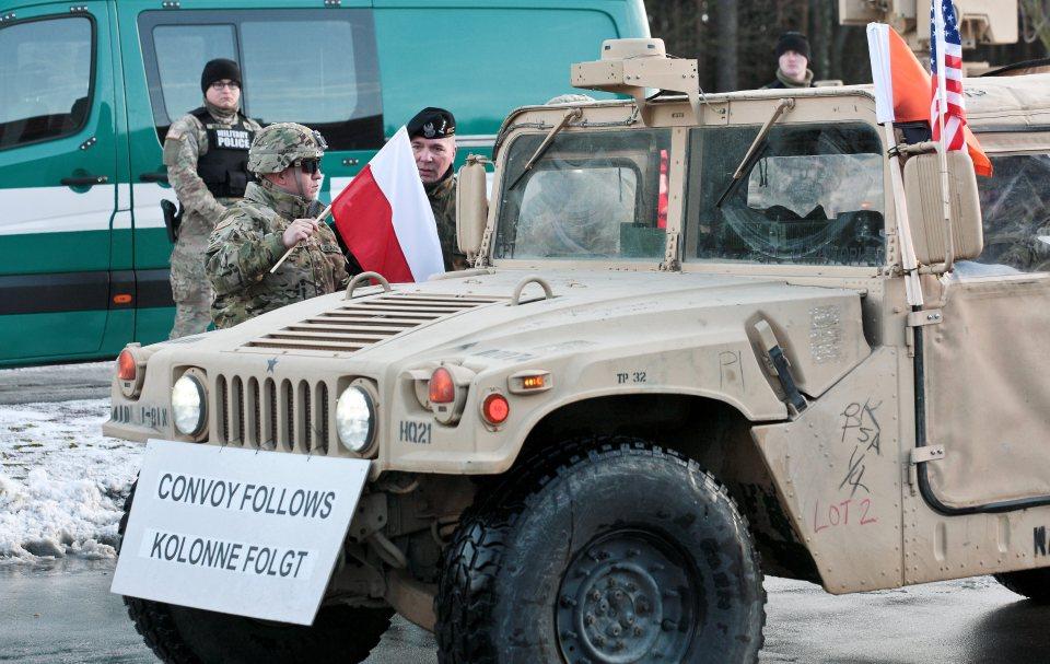 Американският военен конвой пристига от Германия в Полша. Снимка: ЕРА/БГНЕС
