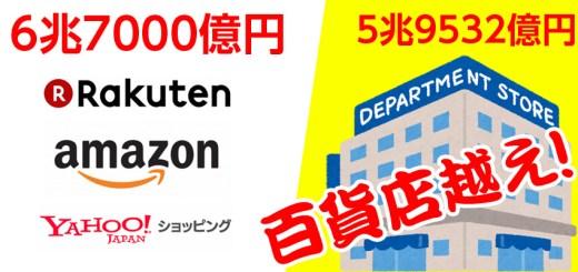 楽天AmazonヤフーのEC売上高は6兆7000億円規模に!