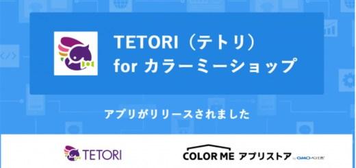 カラーミーショップがWeb接客ツール「TETORI(テトリ)」と連携開始!転換率アップとかご落ち対策に!