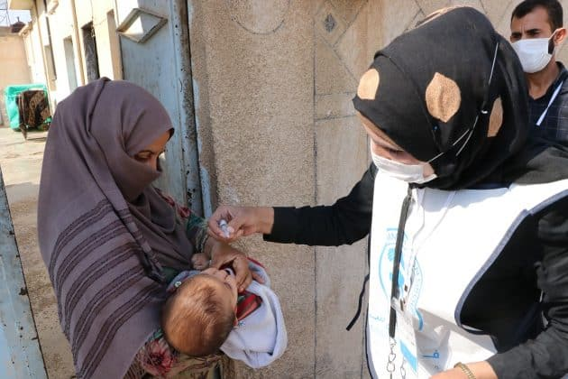 Resulayn ve Telabyad'da çocuklara yönelik oral palio aşı kampanyası başlatıldı.