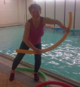 Lisel Humla Sjöstedt anordnar utbildning för instruktörer i vattenträning
