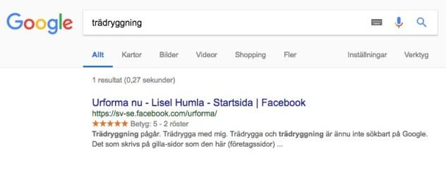 Sökresultat på Google för trädryggning