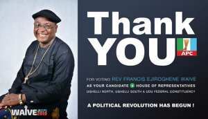 Rev Francis Waive Says Thank You