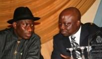 (Left) President Goodluck Jonathan and Dr Emmanuel Uduaghan