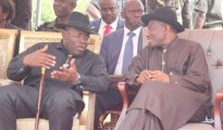President Goodluck Jonathan (L) and Dr Seriake Dickson when the going was good