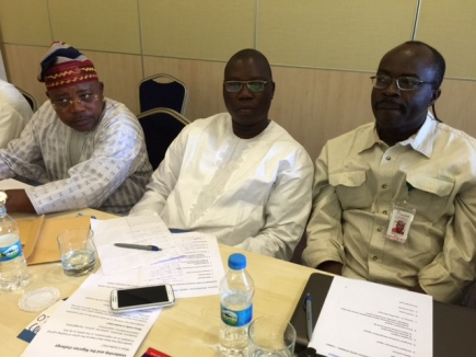 Akogun Banji Ojo, Otunba Gani Adams and Gabriel Akinadewo at the OPU Summit in Turkey
