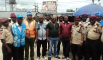 Officials of FRSC and members of Ughelli NURTW in group picture after the enlightenment campaign and free eye and High blood pressure test