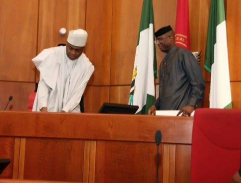 Senator Ovie Omo-Agege and Senate Speaker, Bukola Saraki