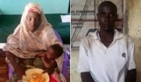 Escaped Chibok girl Amina Ali Nkeki and her Boko Haram husband
