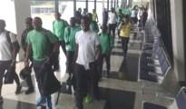 Nigeria Dream Team just arriving in Brazil