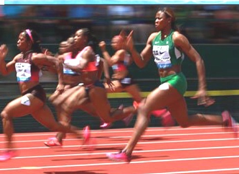 Okagbare in third position