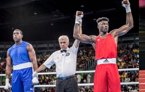 Nigeria boxer, Efe Ajagba on red