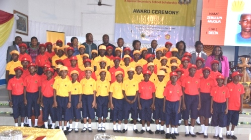 A cross section of the SPDC JV 2016 Cradle to Career beneficiaries at the award ceremony in Port Harcourt