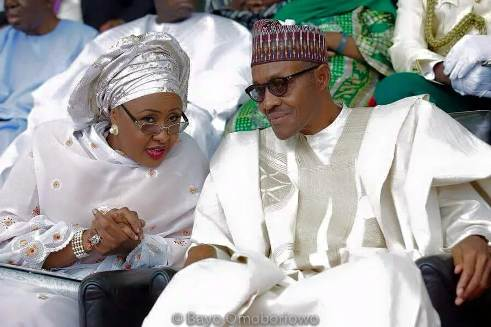 President Buhari and his wife