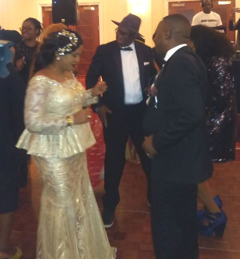 Cyril Ogude (Right) dancing with his wife Eloho Ogude