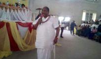 President-General elect of Urhobo Progress Union (UPU) Olorogun Moses Taiga declaring his manifestos before the election