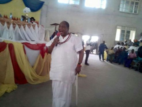 President-General elect of Urhobo Progress Union (UPU) Olorogun Moses Taiga declaring his manifestos before the election