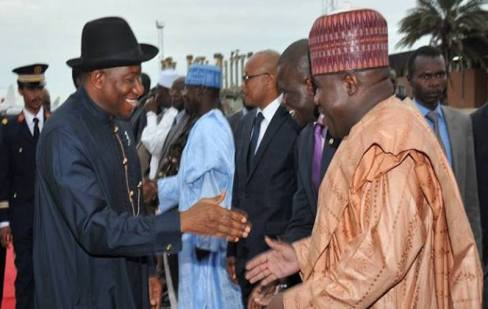 Goodluck Jonathan and Modu Sheriff