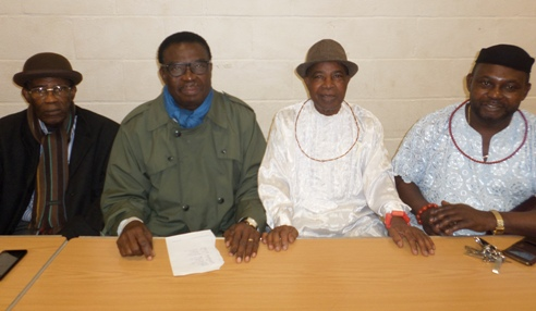L-R- Chief Odeta,Chief Johnson Barovbe, Chief George Ikirigbe and Chief Angus Omesoro President of Urhobo Unity In UK