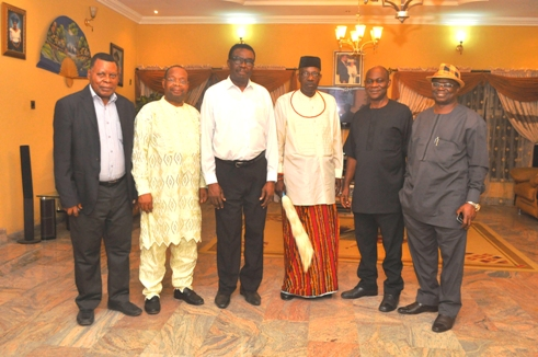 L-R- Chief Okuesa, ,Chief Isaac Uhwokori, Chief Johnson Barovbe,President of Urhobo Traditional Chiefs in UK, Chief Megbetere, President Urhobo Social Club,Chief Simeon Ohwofa, VP Urhobo Social ClubAustin Isire,